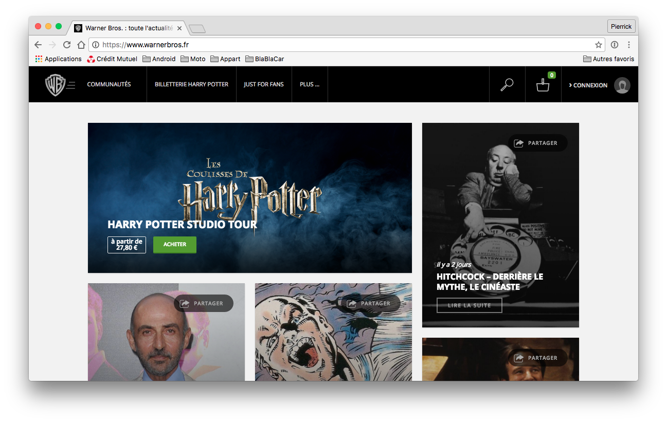 WarnerBros - France - website